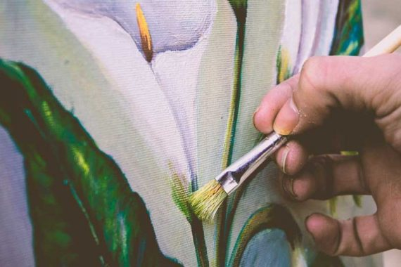 The Therapy of Bird and Flower Painting 570x380 - The Therapy of Bird and Flower Painting